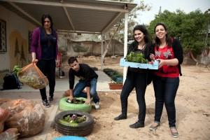 Scholarship recipients volunteering in the Naqab