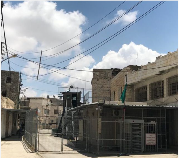 The Israeli checkpoint, in a Palestinian city which the director drew inspiration from